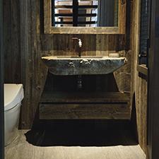 Design de salle de bain - Évier sur mesure en pierre naturelle